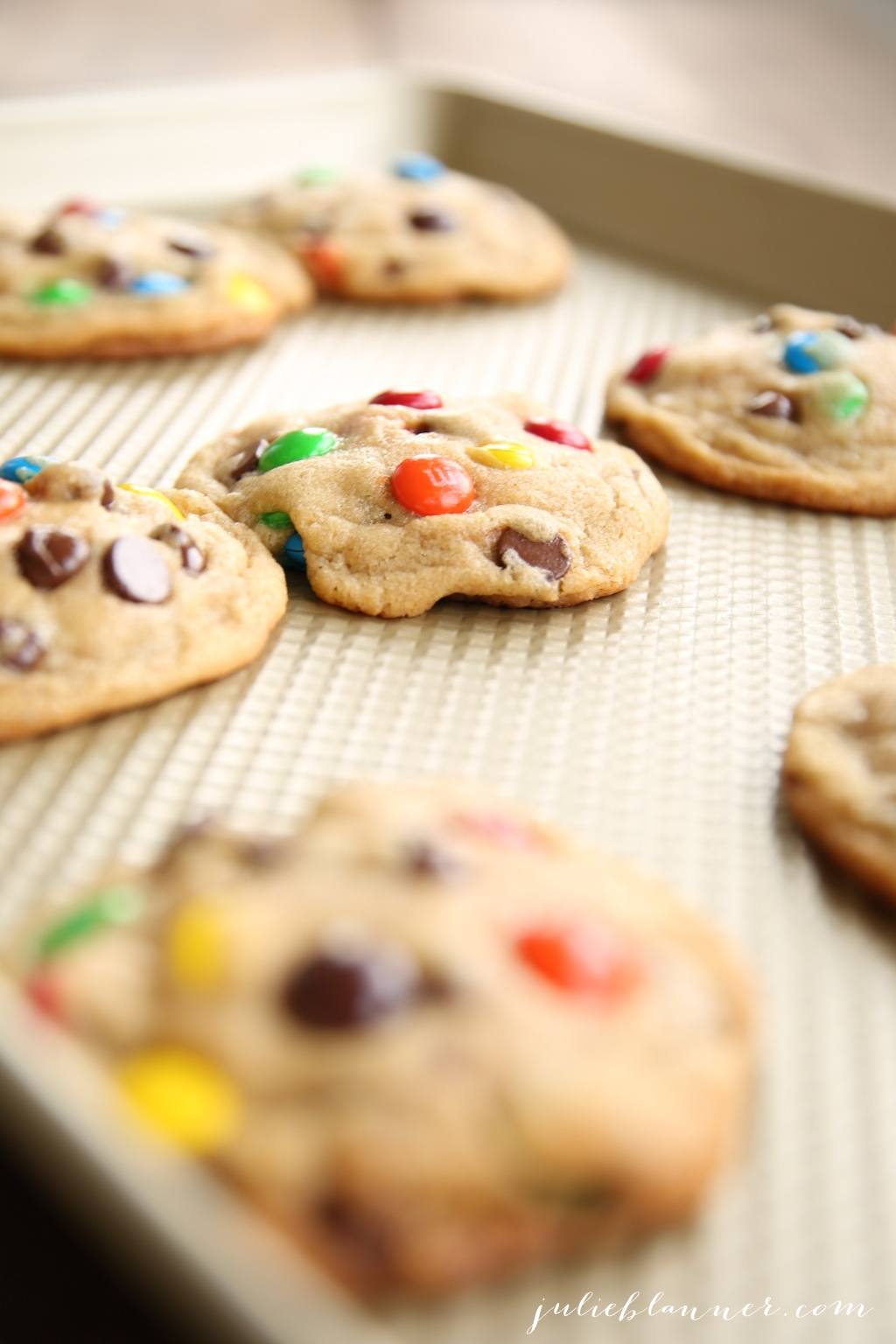 The best M&M cookie recipe - tips for large bakery style cookies