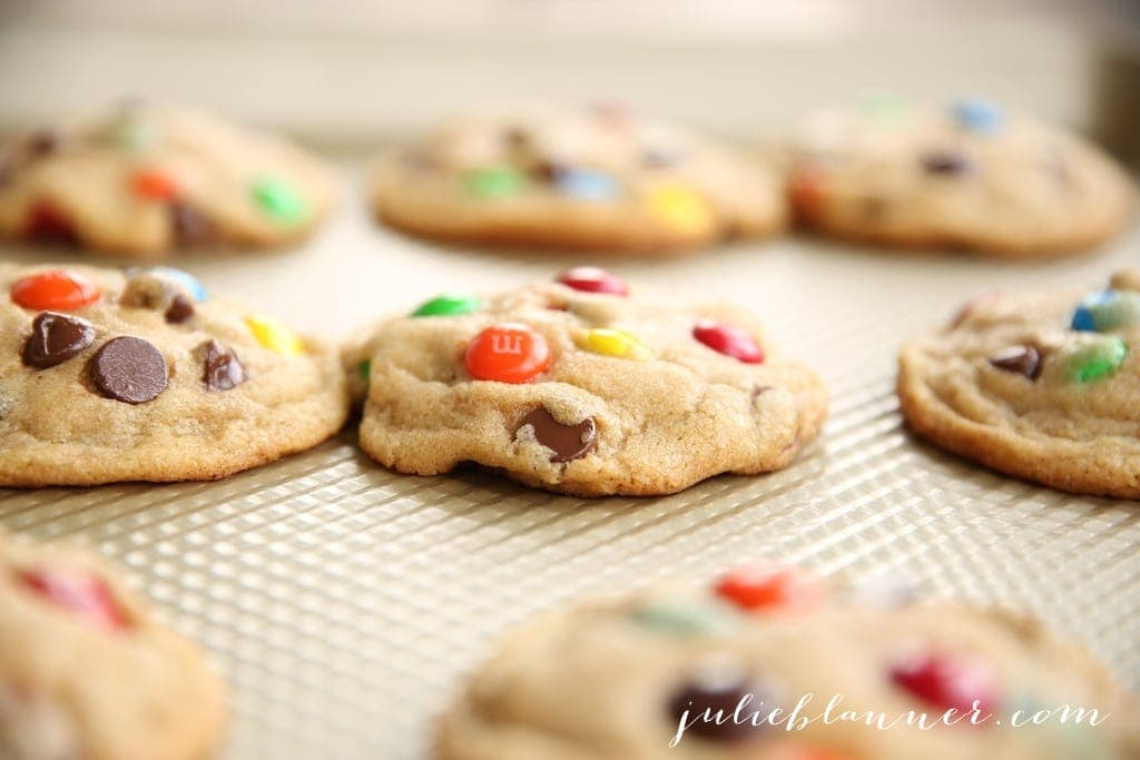 thick chewy m and m cookies