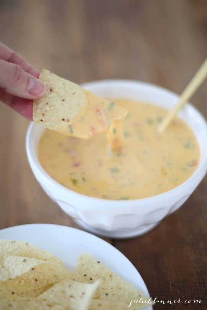 The best chili con queso recipe - a Chevy's copycat cheese dip