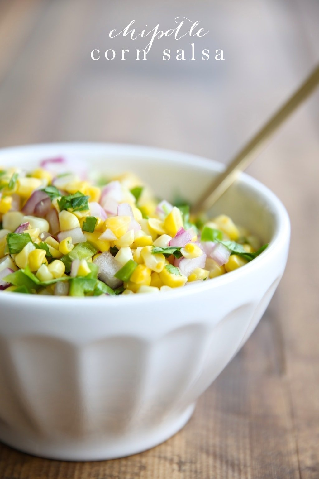 I love this make ahead corn salsa recipe - it's a great dip & topping to a taco bar!