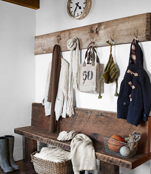 Get organized with simple storage solutions for the mudroom