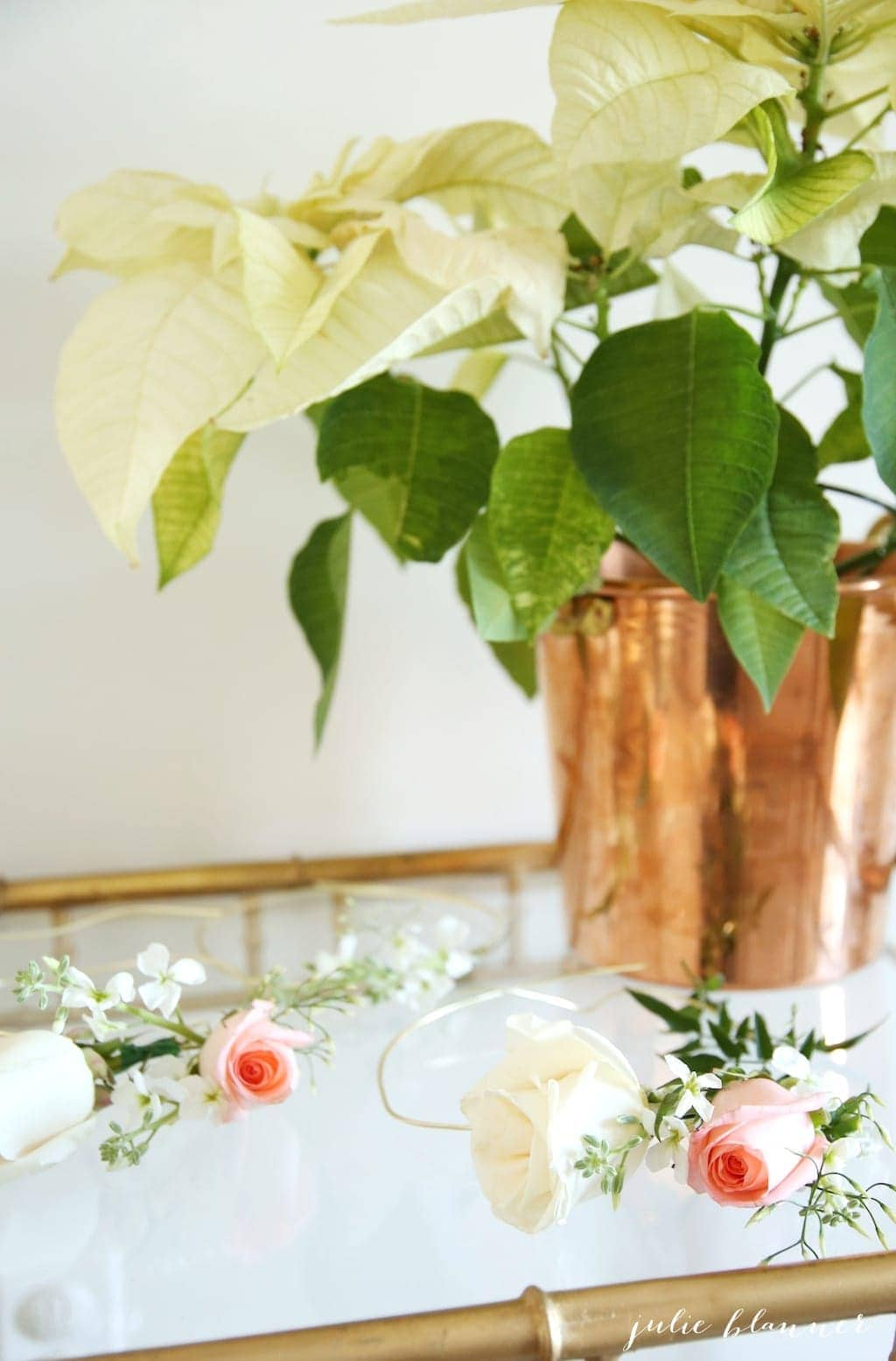 Learn how to make a flower crown - a beautiful favor to gift guests as they arrive!