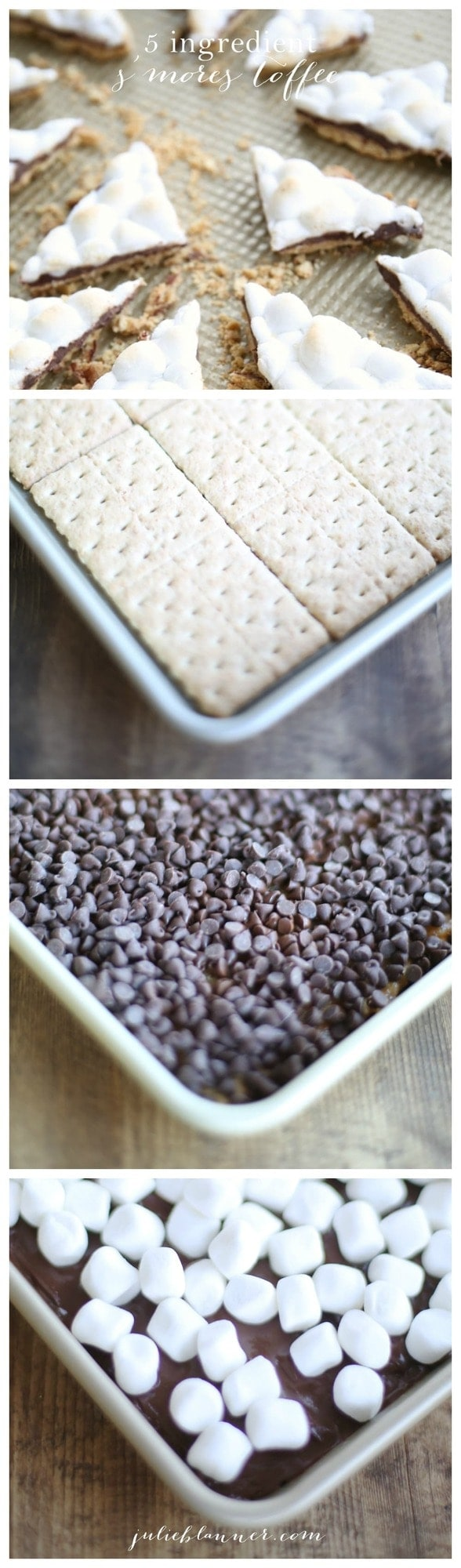 5 ingredient easy S'mores Toffee recipe