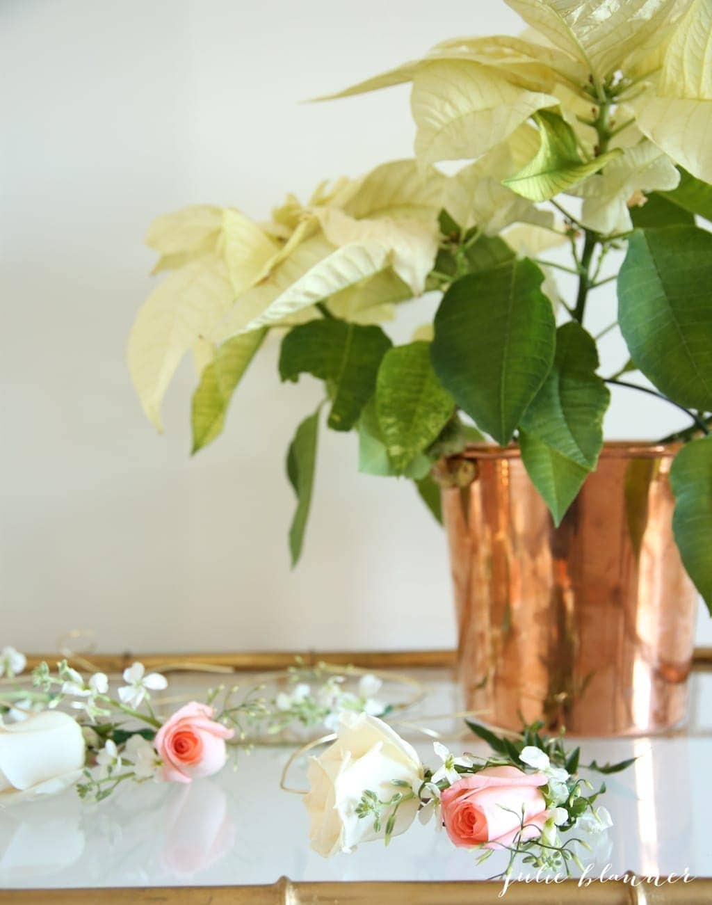 DIY Flower Crown - a beautiful party favor