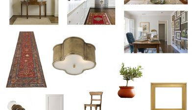 Interior design board - styling a traditional home