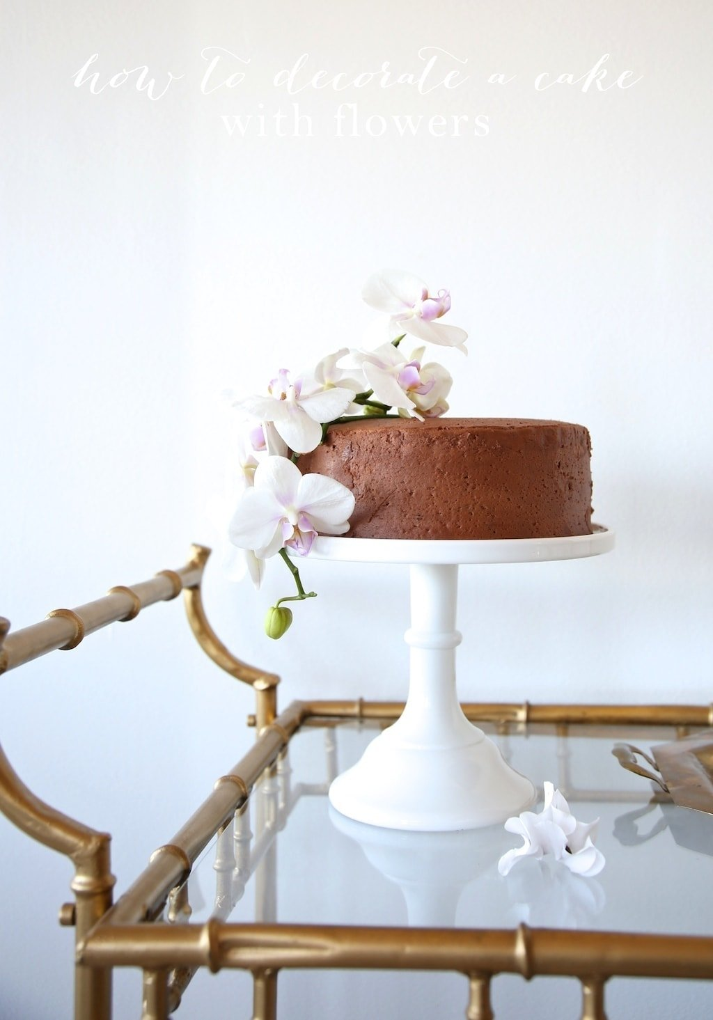 Orchid Cake - beautiful DIY cake
