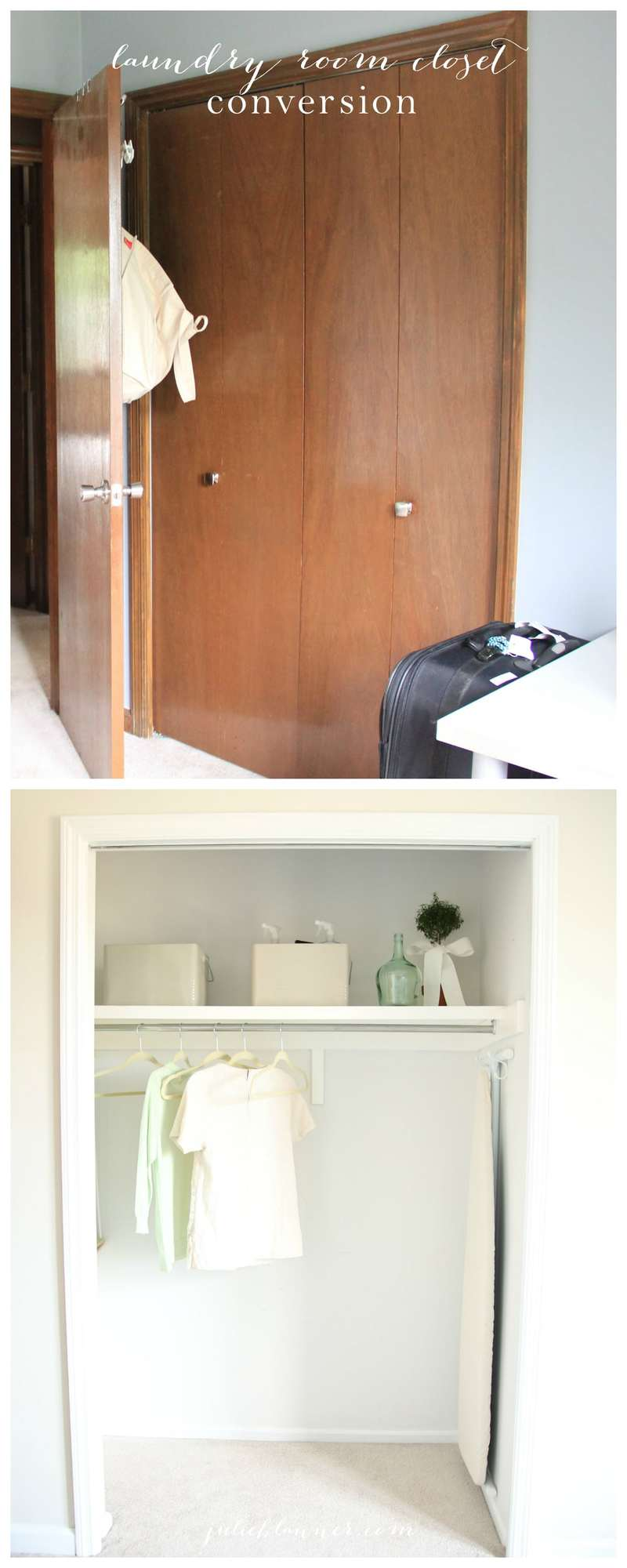 Laundry room closet conversion