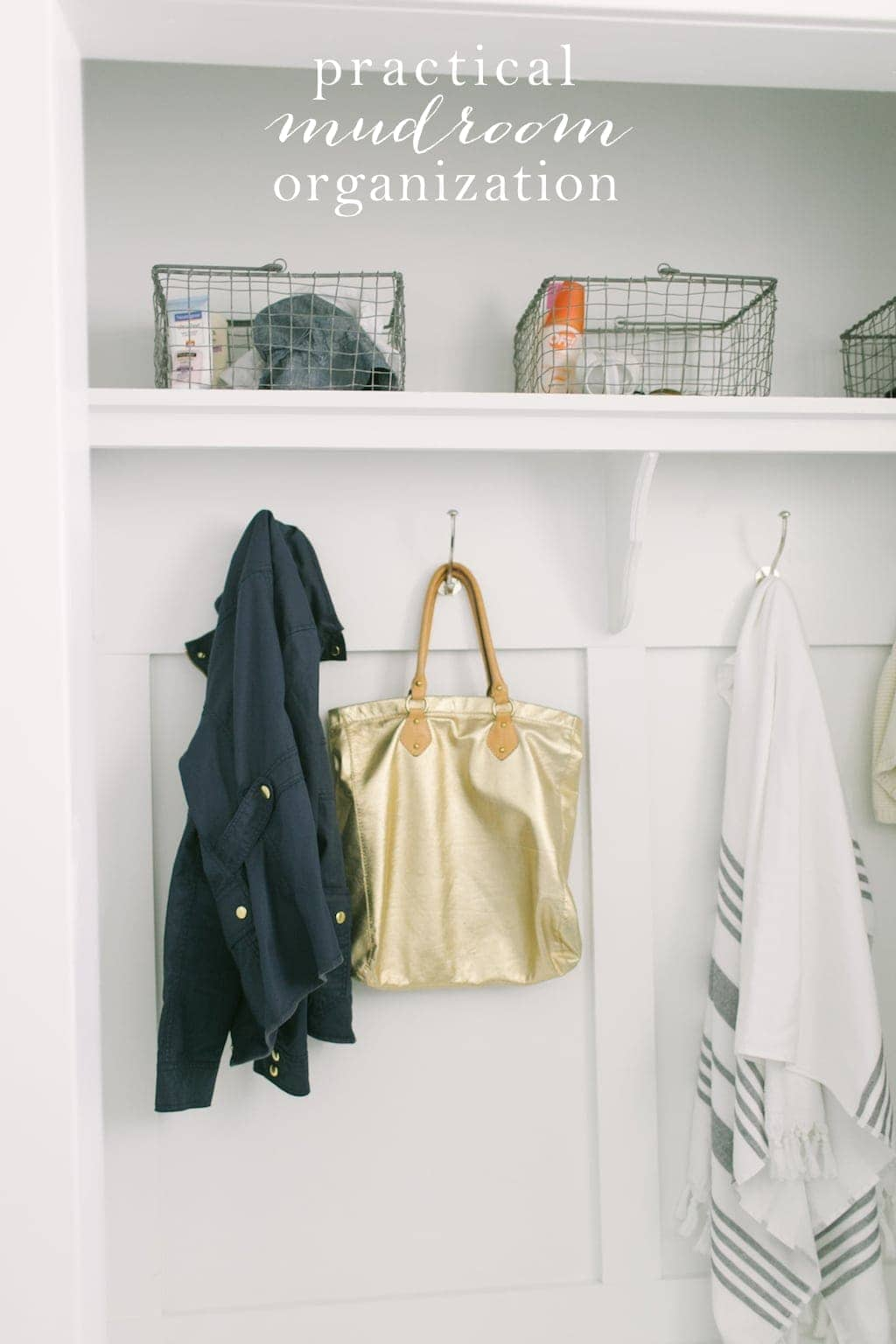 Simple storage solutions & tips to organize your mudroom