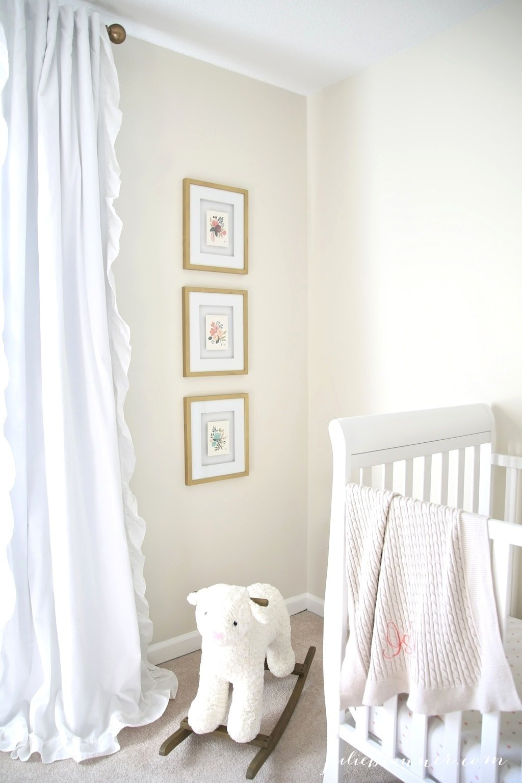 A nursery vignette - simple ideas to create a beautiful nursery on a budget