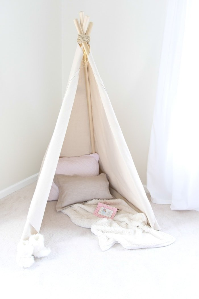 how to make a teepee tent an easy no sew project in less than an hour