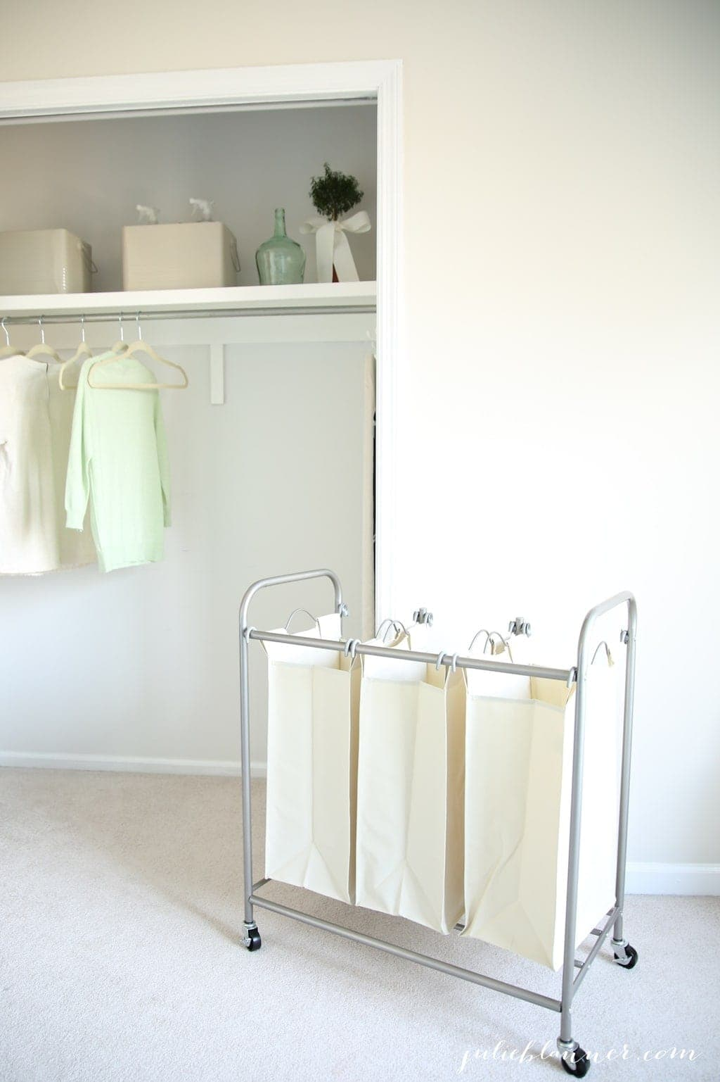 Laundry room ideas with BHG - a laundry sorter