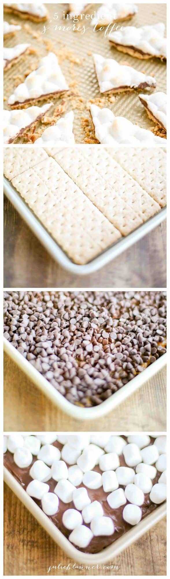 photo collage to make smores toffee