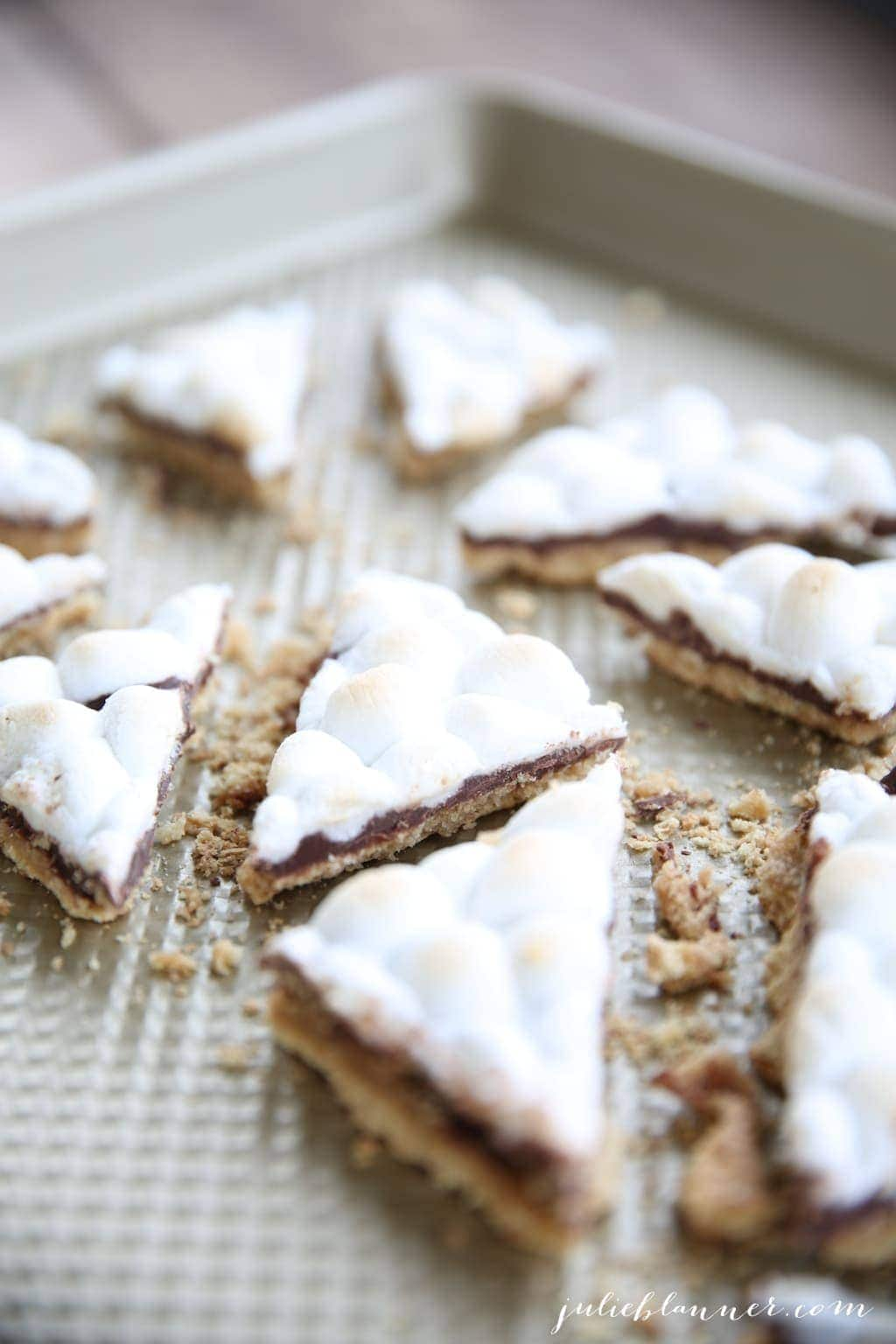 The easiest toffee - 5 ingredient s'mores toffee recipe