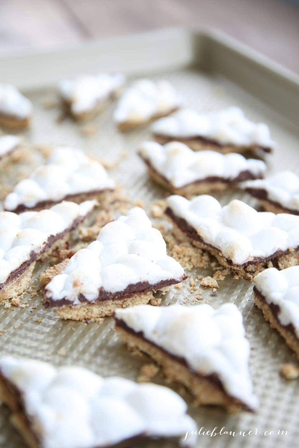 Staple ingredient s'mores toffee recipe - easy & incredibly delicious!