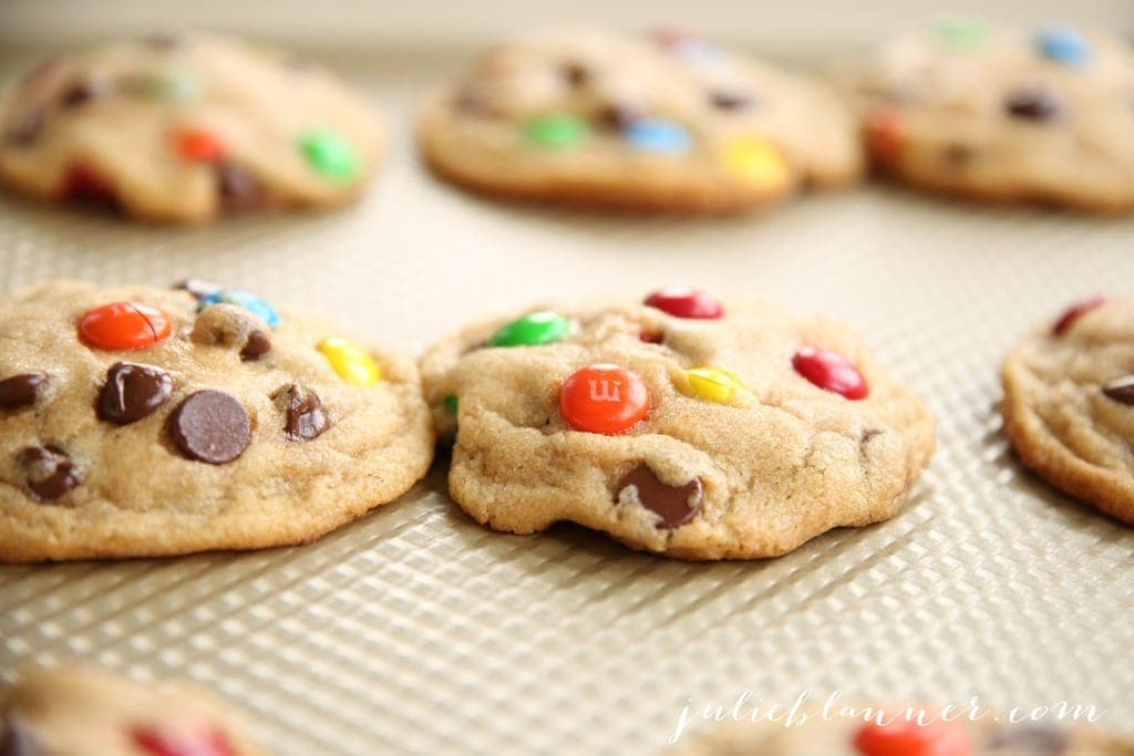 M&M Cookies - get the tips for bakery style cookies