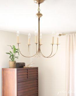 Pretty antique brass chandelier
