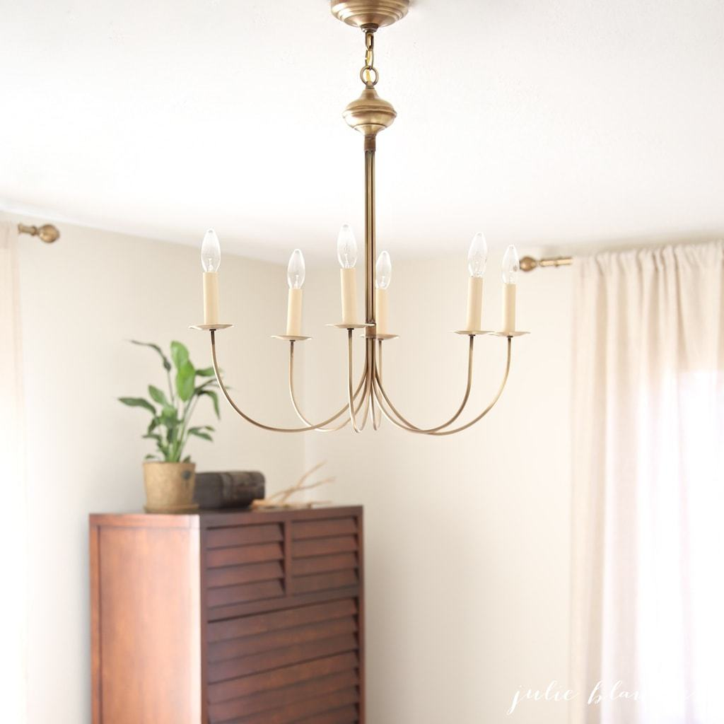 Pretty antique brass chandelier