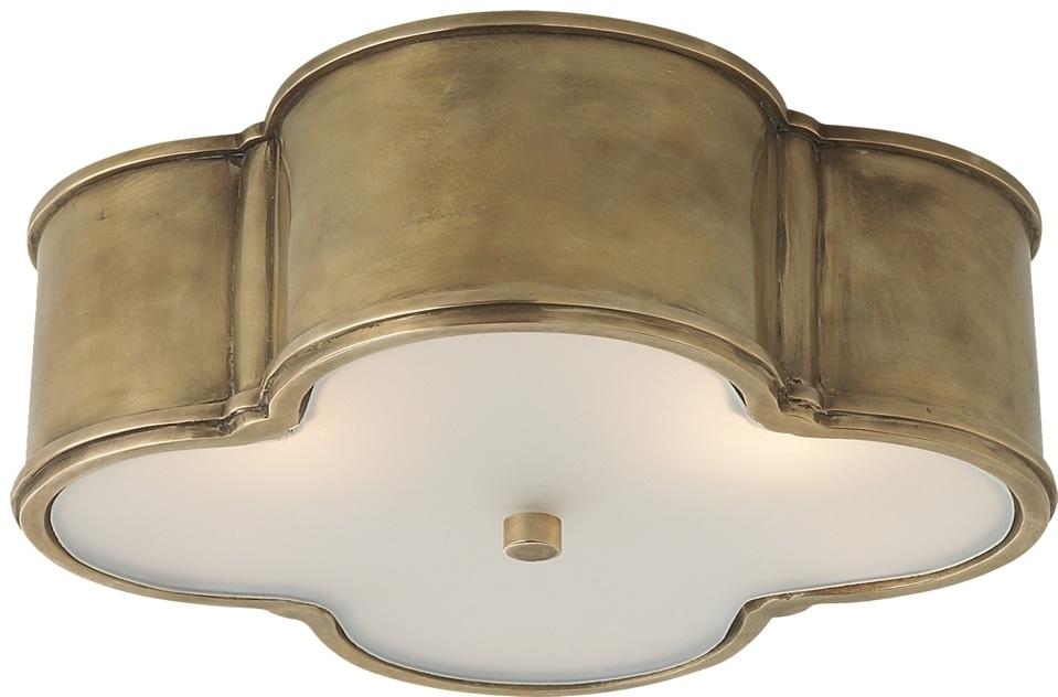 Alexa Hampton Basil Flushmount in brass