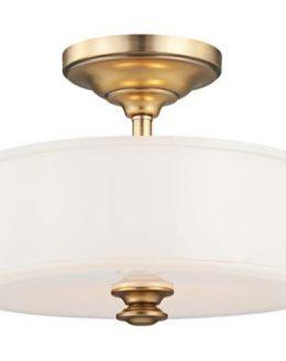 Beautiful brass semi-flushmount light