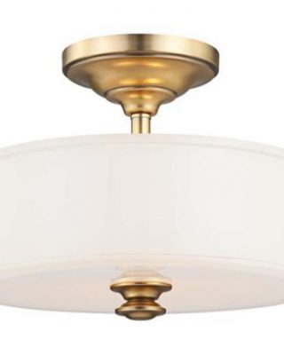 Beautiful brass semi-flushmount light