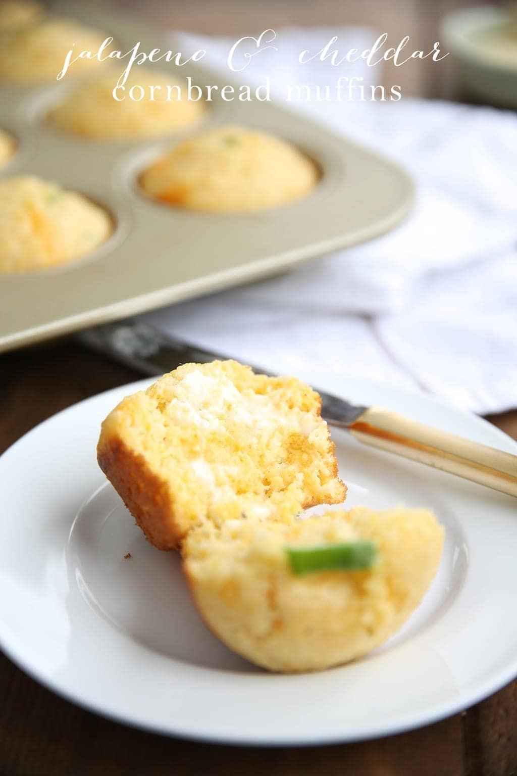Hosting a Pretty Potluck | Cornbread Muffins Recipe