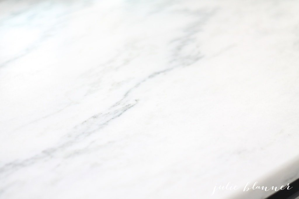 Beautiful white marble countertops