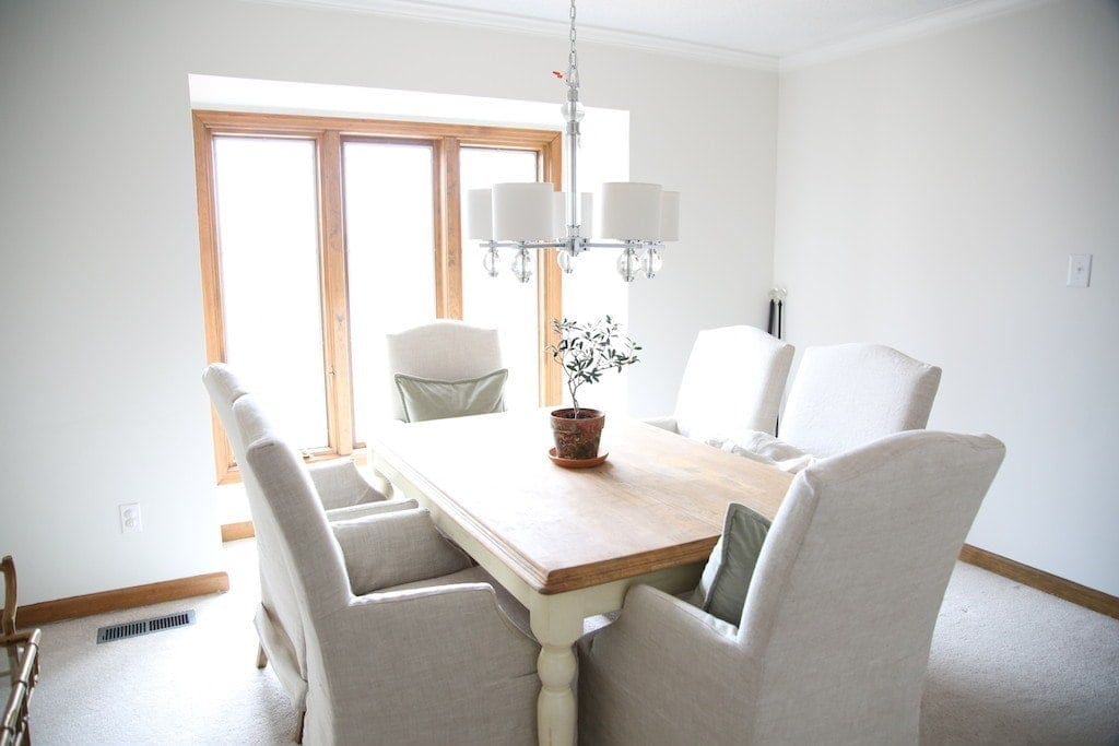 dining room before image - how to make the best of a dated home