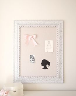 Make a silhouette of your kids in just a few easy steps - beautiful bedroom decor