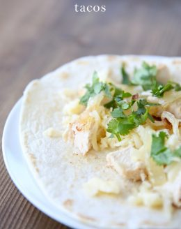 Amazing chicken tacos recipe - just a 3 minutes hands on time!