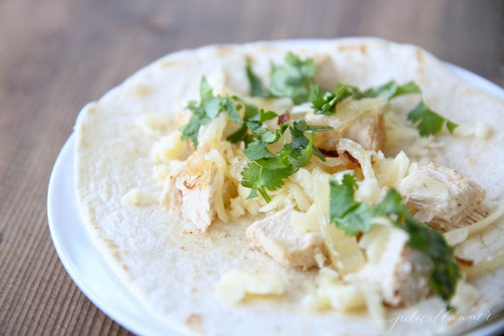 Ridiculously easy, ridiculously good chicken taco recipe - great for entertaining!