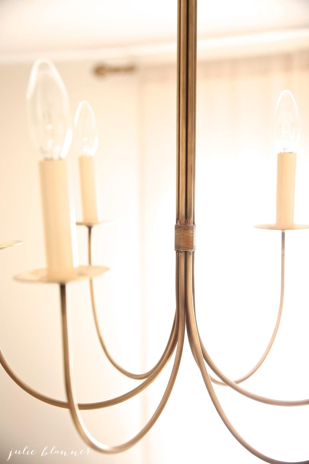 handmade brass chandelier   master bedroom light