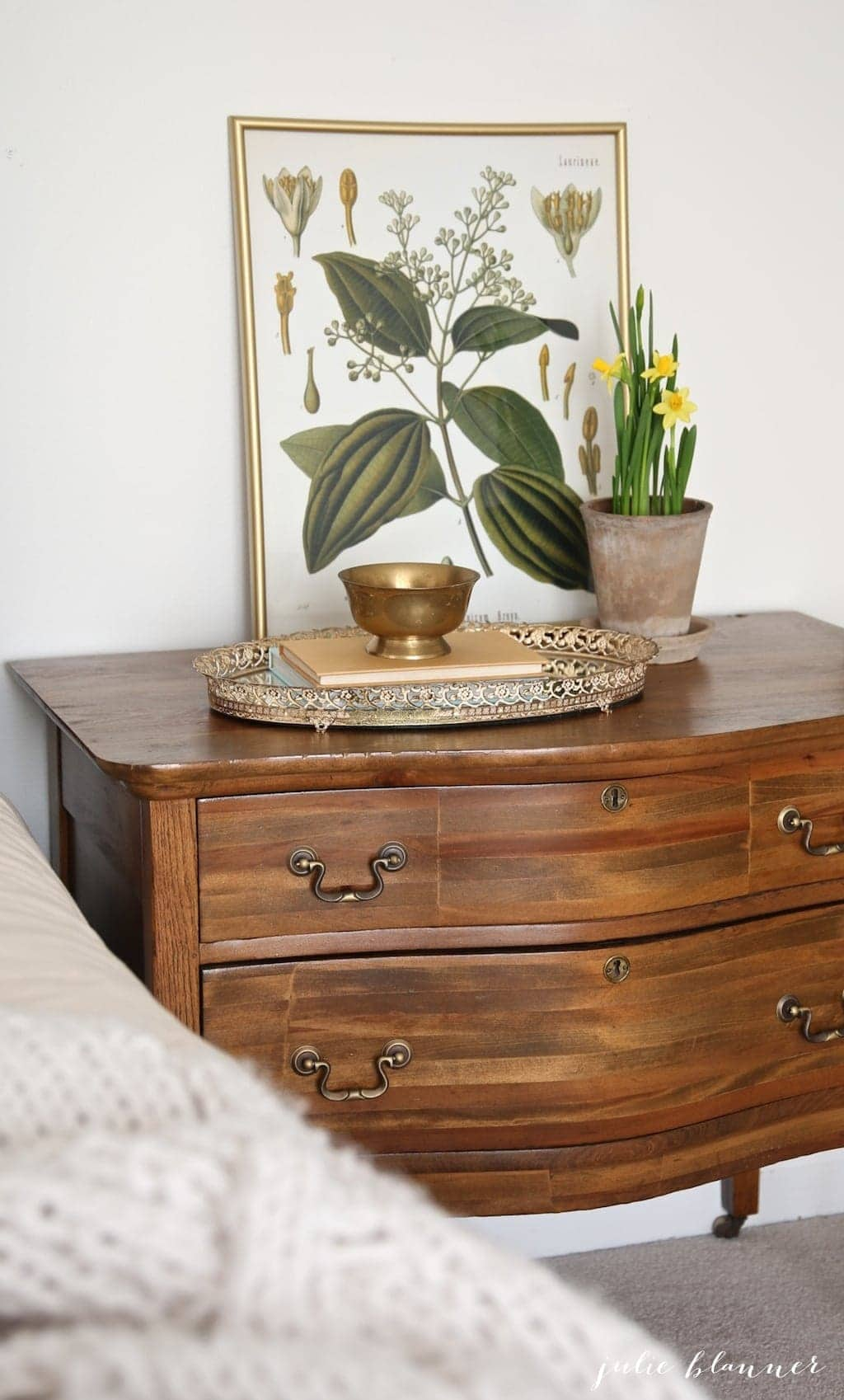 large wood nightstand for master bedroom