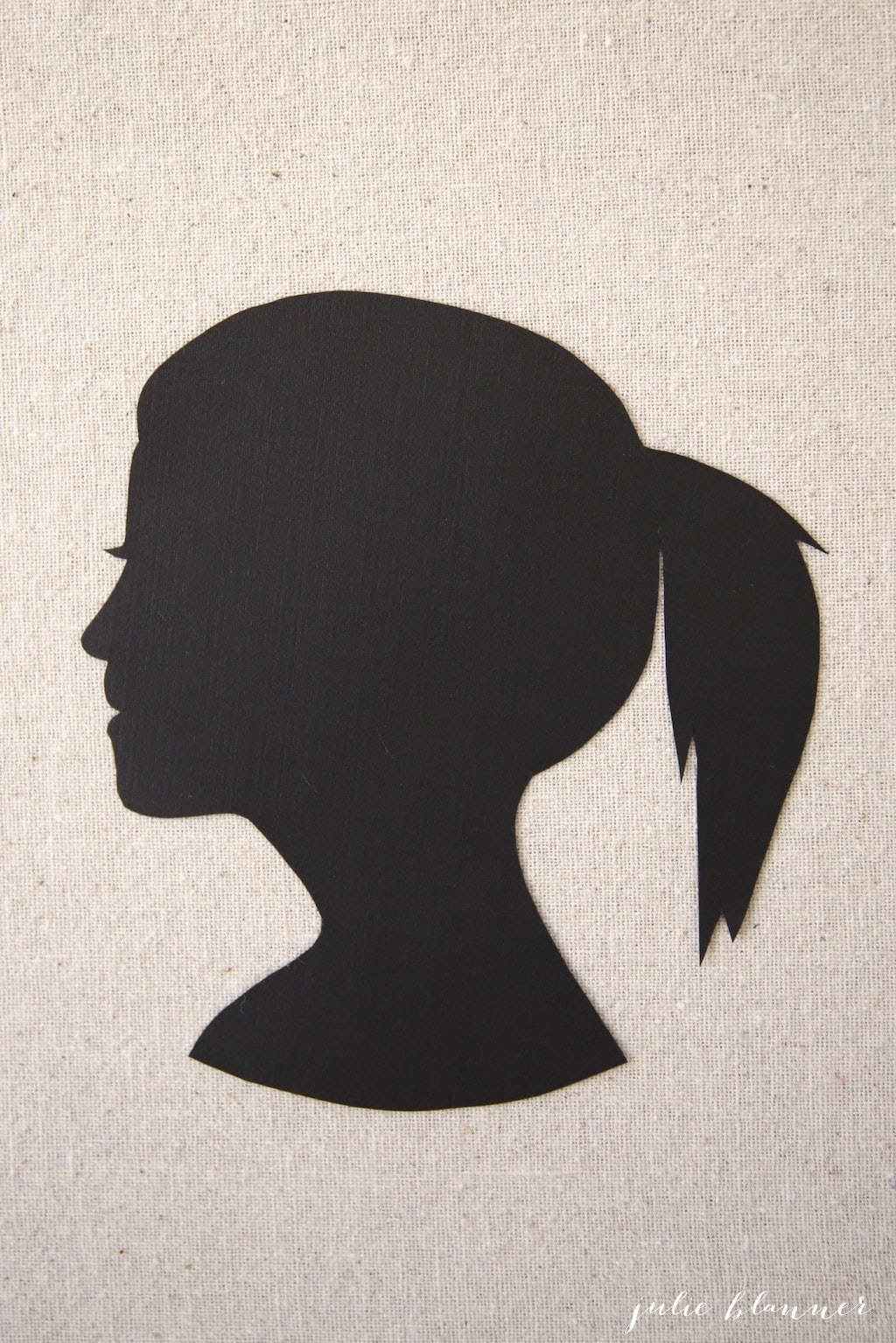 Easy DIY silhouette portrait