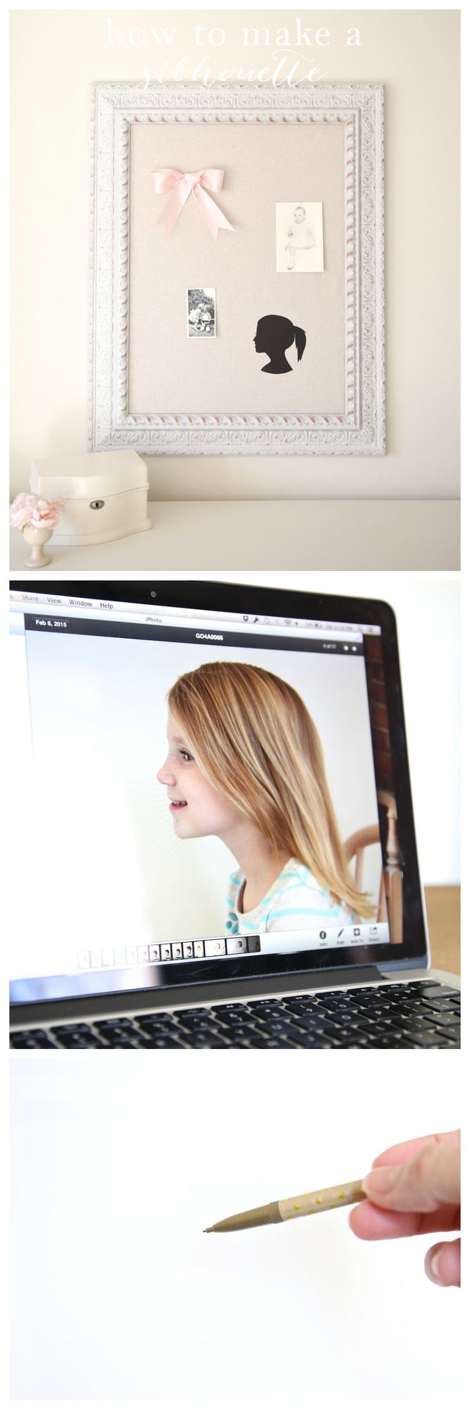 Make a silhouette of your kids in minutes with this easy tutorial!