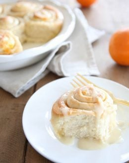orange roll on a plate