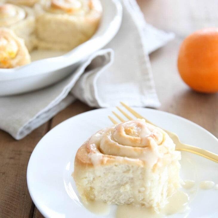 Beautiful brunch recipe - easy sweet orange rolls in less than an hour!