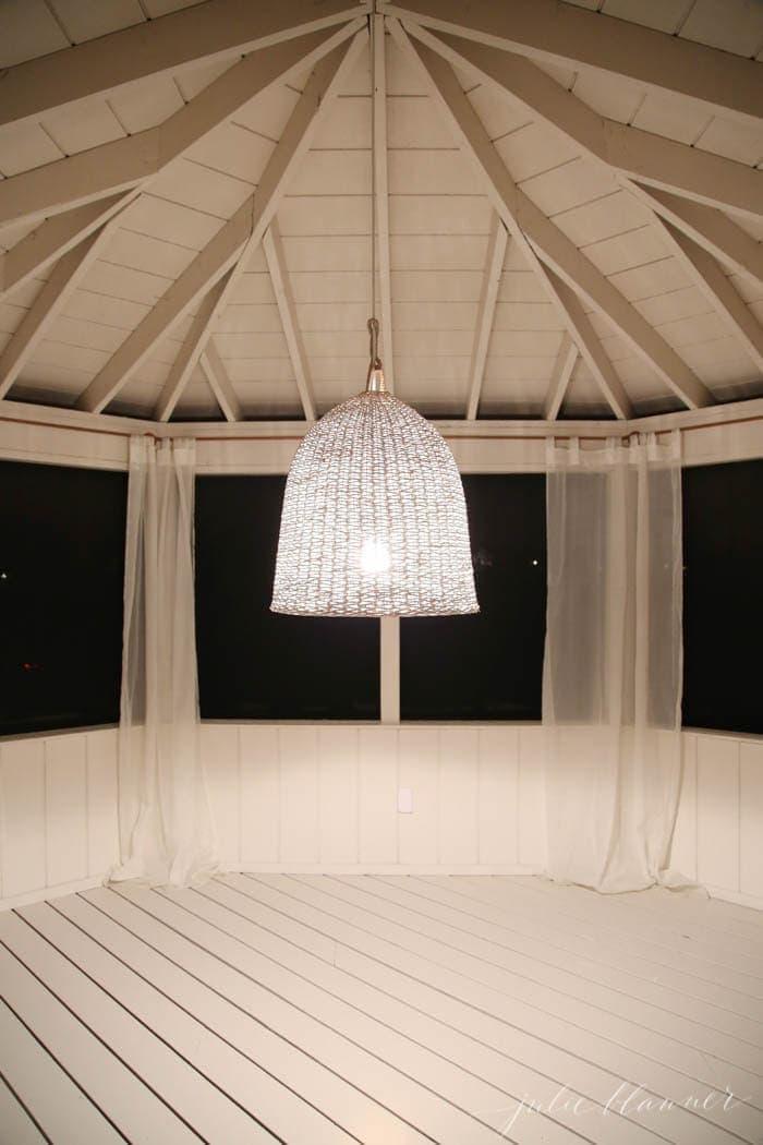 Basket light fixture