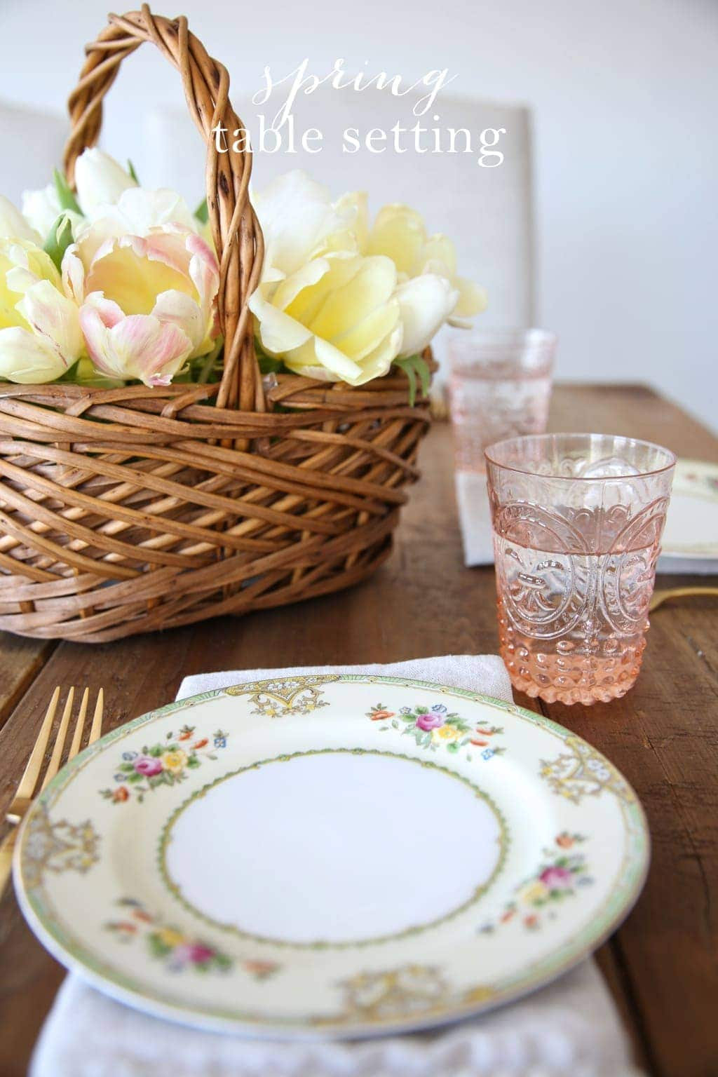 Simple spring table setting