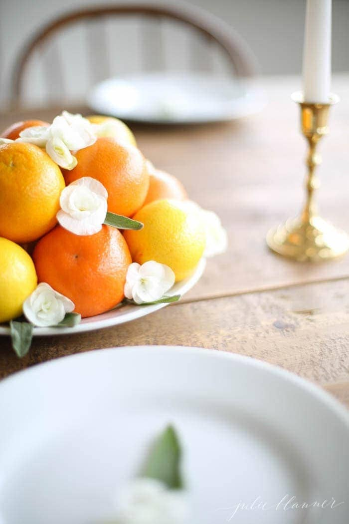 Easy, detailed instructions to create a centerpiece for spring & summer entertaining