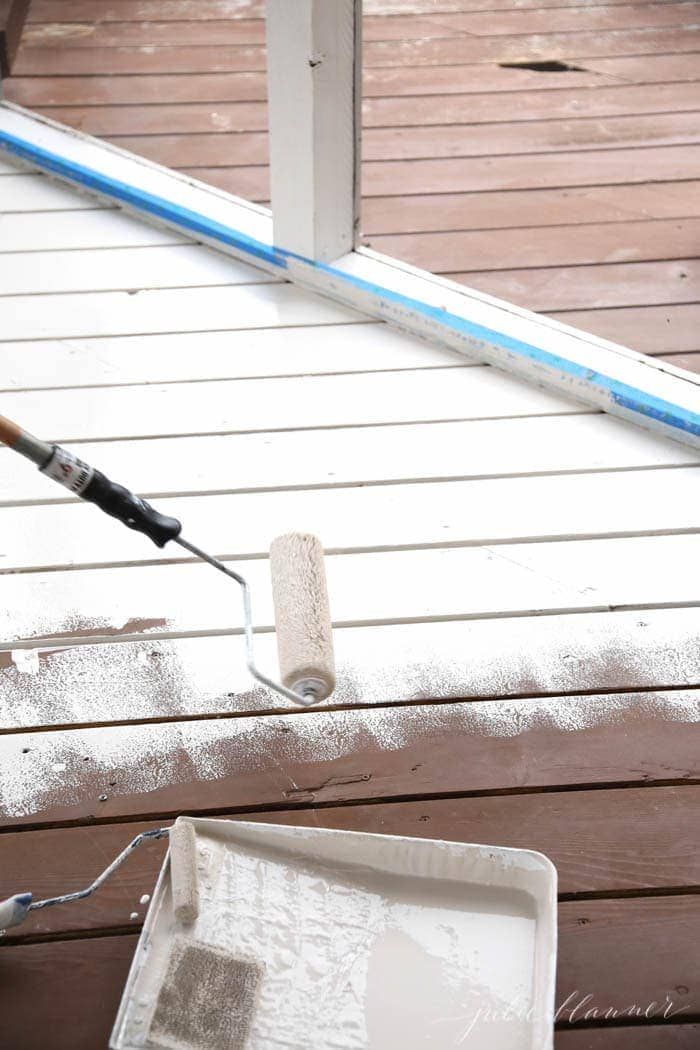 Get the quick tips to save time staining a deck