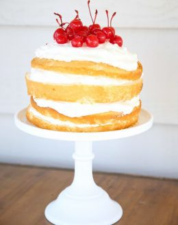 Easy Cherries and Cream Naked Cake recipe