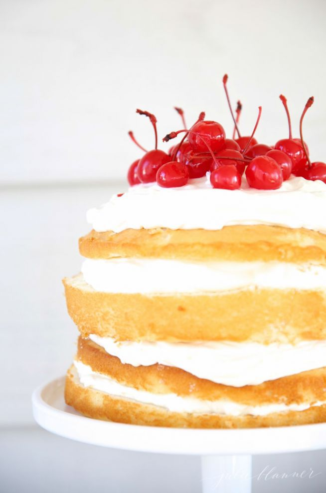 Easy cherry cream cake recipe