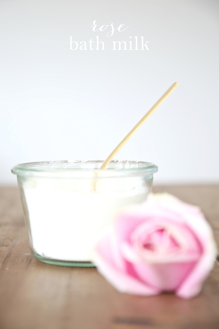 Homemade Rose Milk Bath Recipe