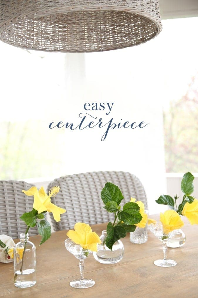 Easy centerpiece idea - deconstructed plant
