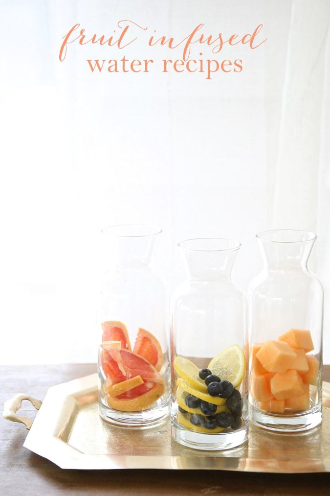 Water Bar | Set up a fruit infused water bar for a refreshing summer party