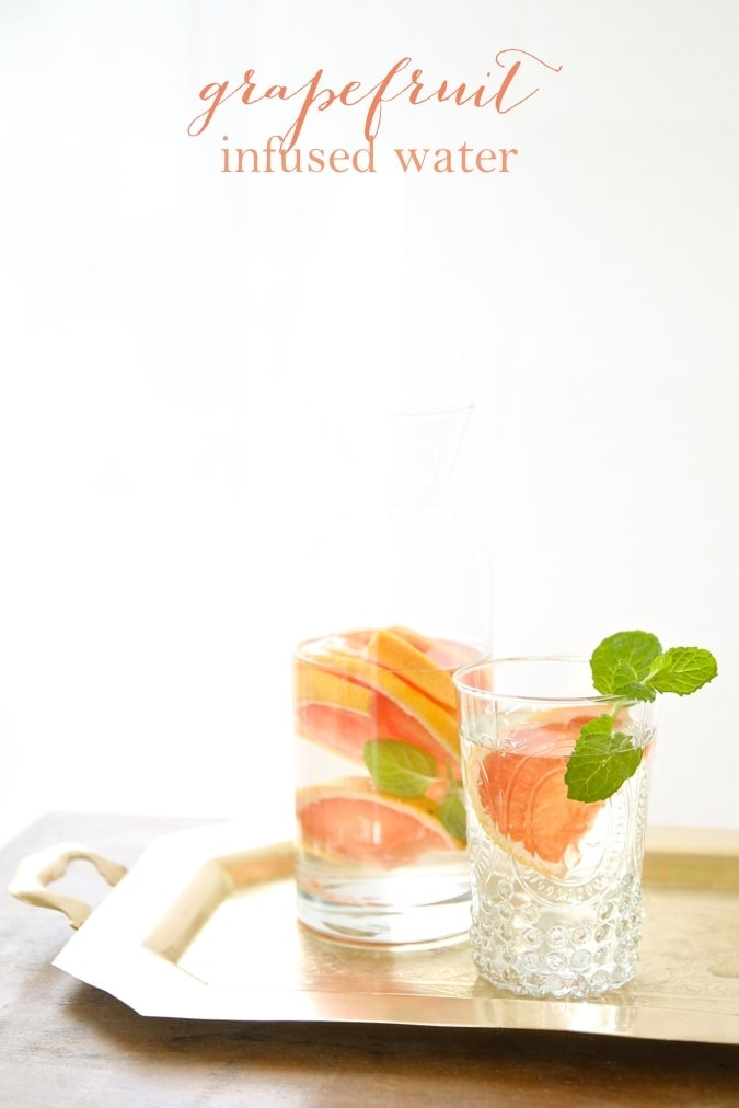 Fruit infused water recipes | Grapefruit Water
