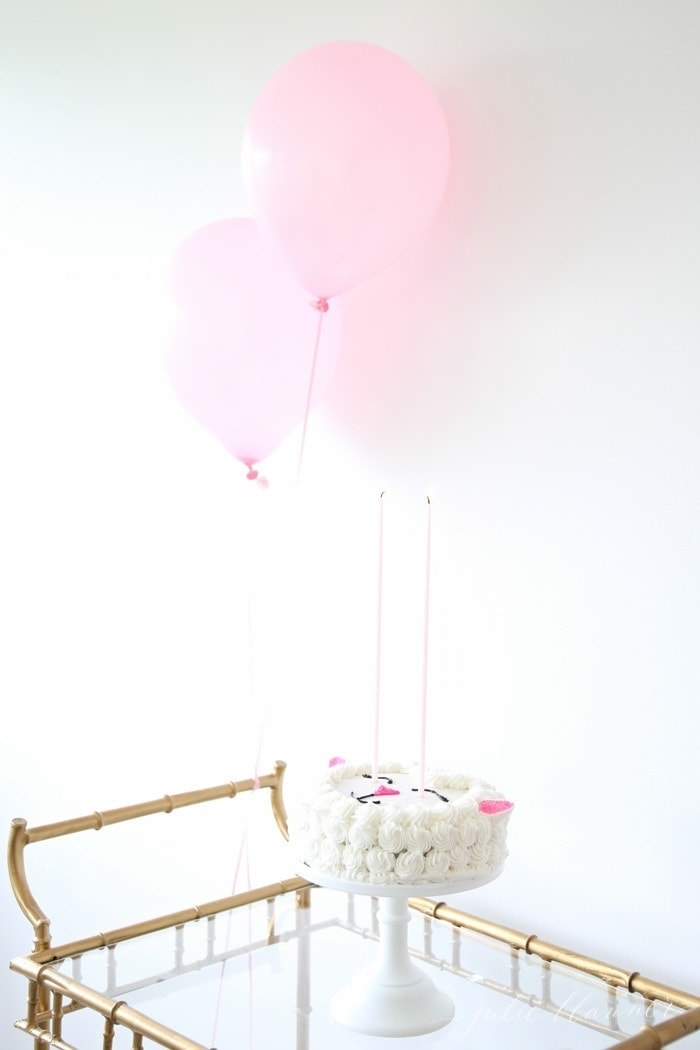 Simple and beautiful birthday party ideas that you can recreate with a trip to the grocery store | lamb birthday cake