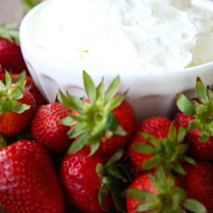 Incredibly quick, easy & amazing fruit dip recipe