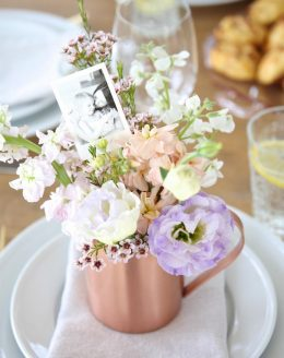 Beautiful Mother's Day centerpieces - get the easy diy details!