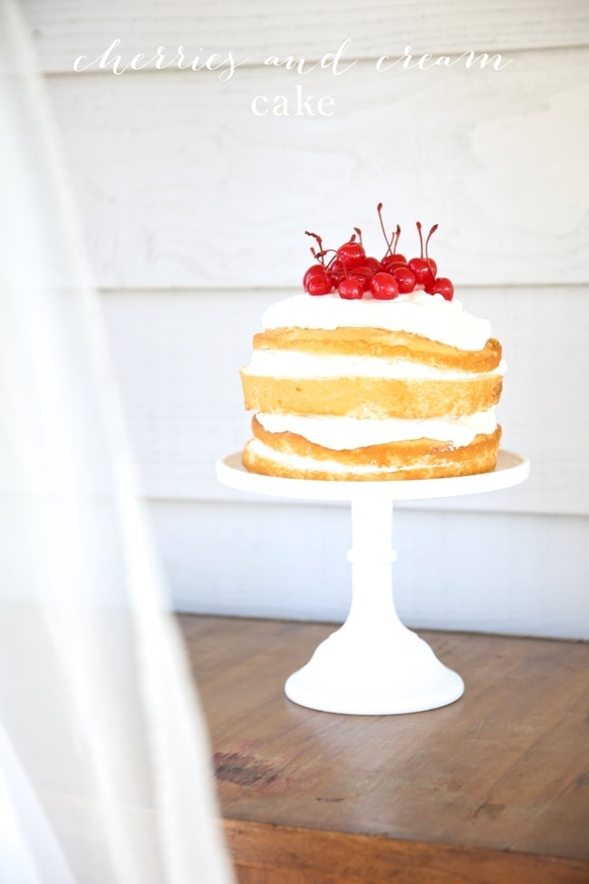 You'll love this beautiful naked cherries and cream cake - A perfect naked cake recipe with step-by-step details to easily create your own cherry cake.